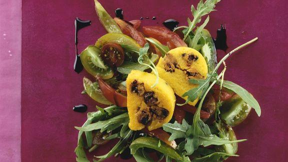 Rezept: Poentascheiben mit Salat
