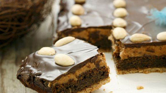 Rezept: Polnischer Mohnkuchen mit Erdnussbutter