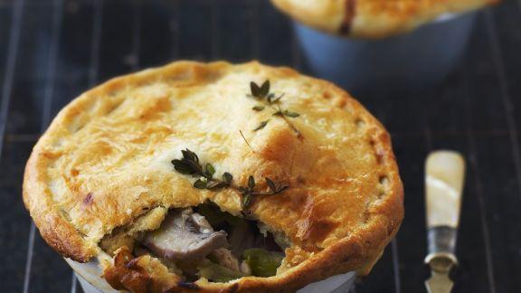 Rezept: Porree-Hähnchen-Küchlein auf englische Art (Pie)