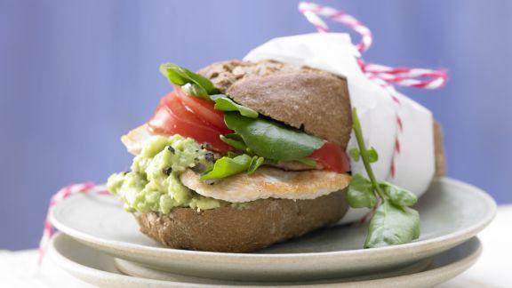 Rezept: Puten-Avocado-Burger
