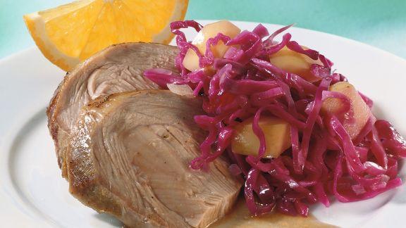 Rezept: Putenbraten mit Rotkohl
