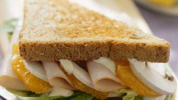 Rezept: Putenbrust-Orangen-Sandwich