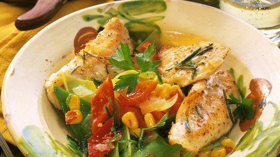 Rezept: Putenschnitzel mit Gemüse