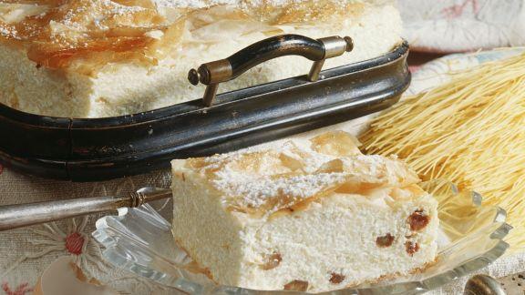 Rezept: Quark-Rosinen-Kuchen mit ungarische Art