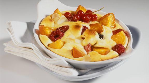 Rezept: Quarkauflauf mit Früchten