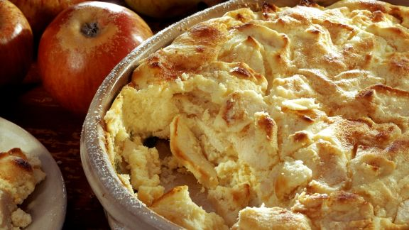 Rezept: Quarkgratin mit Apfel