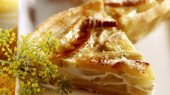 Rezept: Quiche mit Fenchel, Apfel und Parmesan