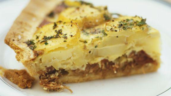 Rezept: Quiche mit Kartoffeln und Entenconfit