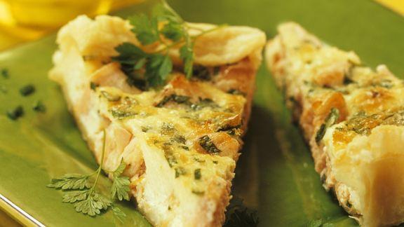 Rezept: Quiche mit Lachs und Kräutern