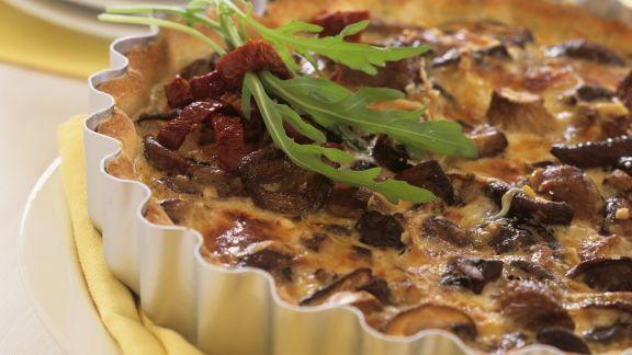 Rezept: Quiche mit Pilzen und getrockneten Tomaten