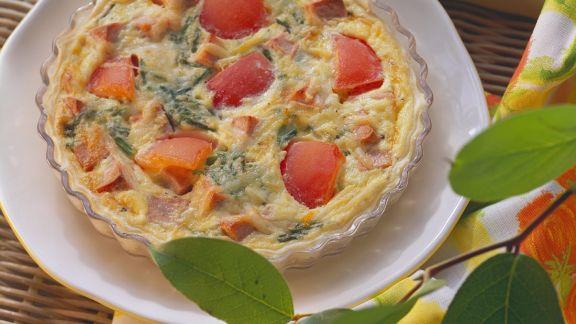 Rezept: Quiche mit Wurst und Tomaten