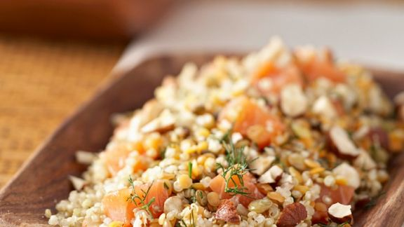 quinoa lachs salat mit dill rezept eat smarter. Black Bedroom Furniture Sets. Home Design Ideas
