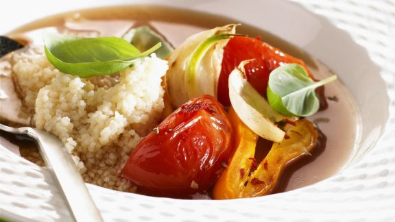 Rezept: Quinoa mit Gemüse in Brühe