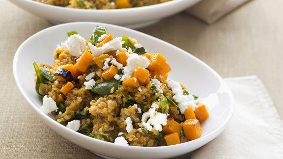 Rezept: Quinoa mit Kürbis und Schafskäse