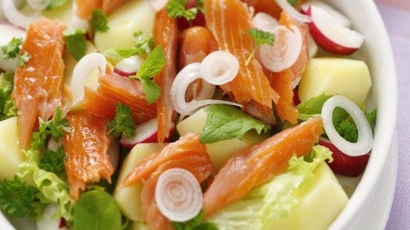 Rezept: Räucherlachs-Kartoffelsalat