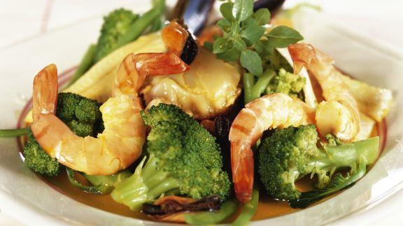 Rezept: Ragout aus Meeresfrüchten und Brokkoli