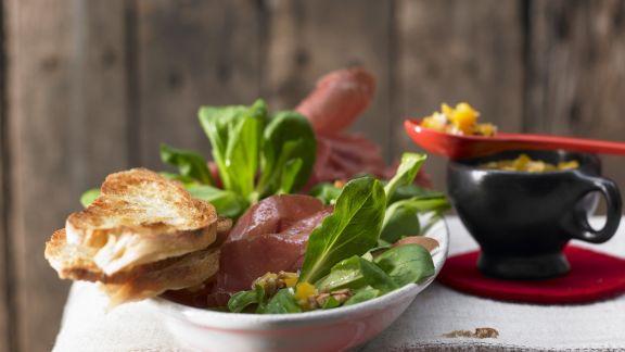 Rezept: Rapunzel-Salat mit Bündnerfleisch