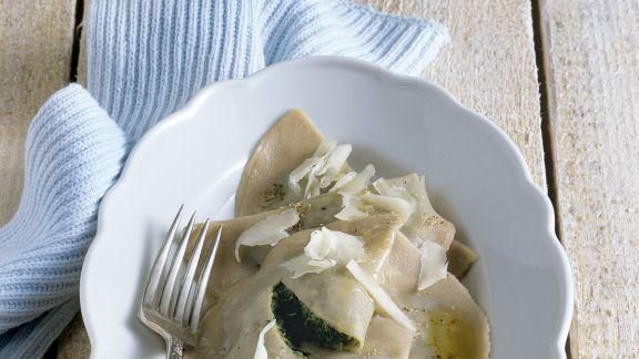 Rezept: Ravioli mit Spinatfüllung