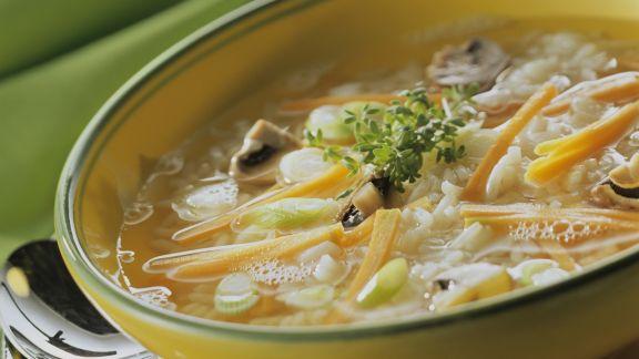 Rezept: Reis-Gemüse-Suppe