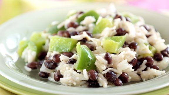 Rezept: Reis mit Bohnen und Paprika