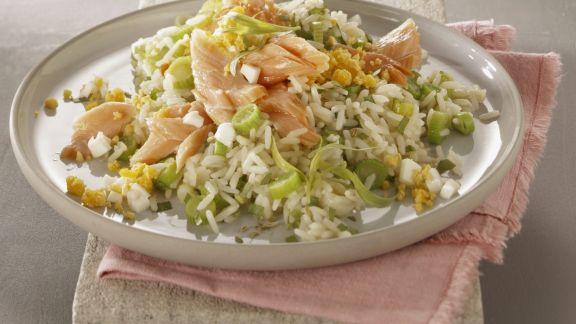 Rezept: Reis mit Gemüse und Stremellachs