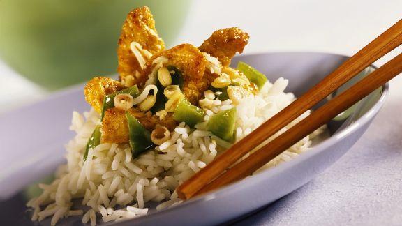 Rezept: Reis mit Hähnchen