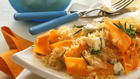 Rezept: Reis mit Möhren und Käse