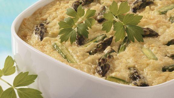Rezept: Reis-Spargelauflauf