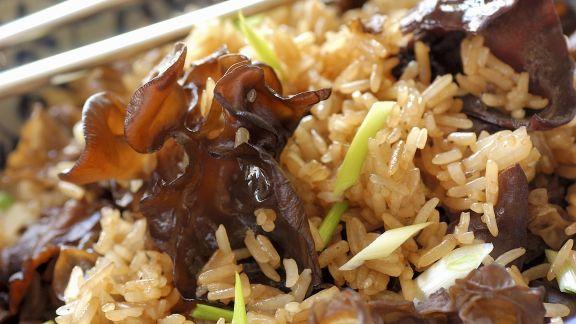 Rezept: Reispfanne mit Pilzen