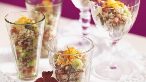 Rezept: Reissalat auf orientalische Art mit Pistazien