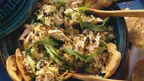 Rezept: Reissalat mit Hähnchen