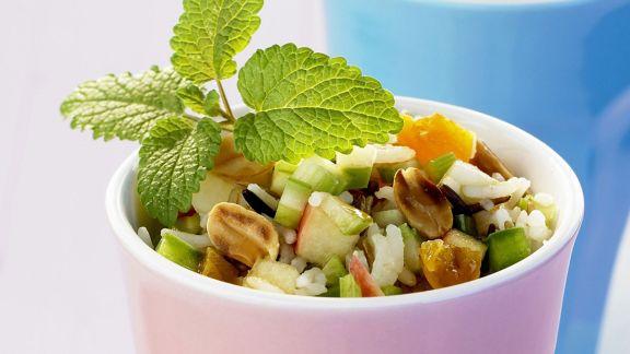 Rezept: Reissalat mit Trocken-Aprikosen