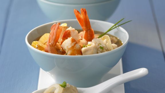 Rezept: Reissuppe mit Shrimps