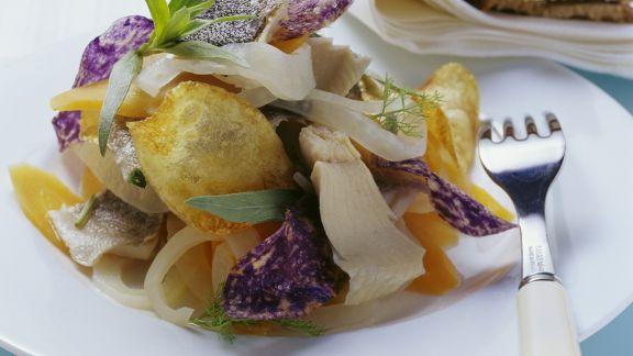 Rezept: Renke in Marinade mit frittierten Kartoffelhobeln