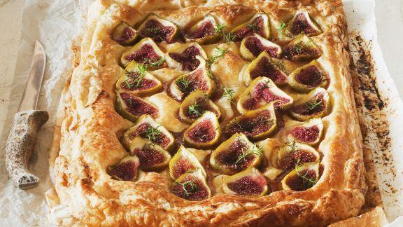 Rezept: Ricotta-Feigen-Kuchen mit Mandeln und Honig
