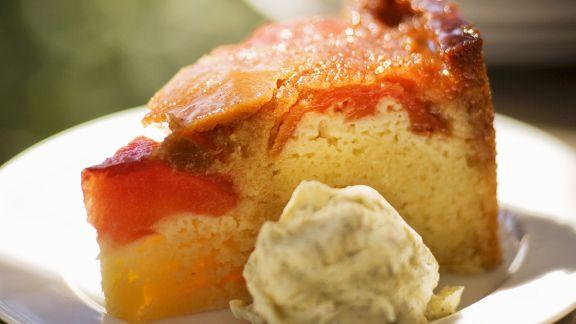 Rezept: Ricottakuchen mit Pfirsich