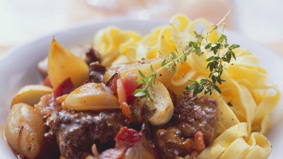 Rezept: Rinder-Rotwein-Ragout