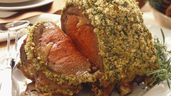 Rezept: Rinderbraten mit Kräutermantel