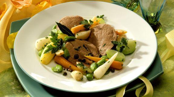 Rezept: Rinderbrust mit frühlingshaftem Gemüse