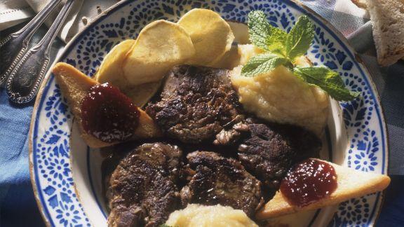 Rezept: Rinderfilet mit Kartoffelpüree