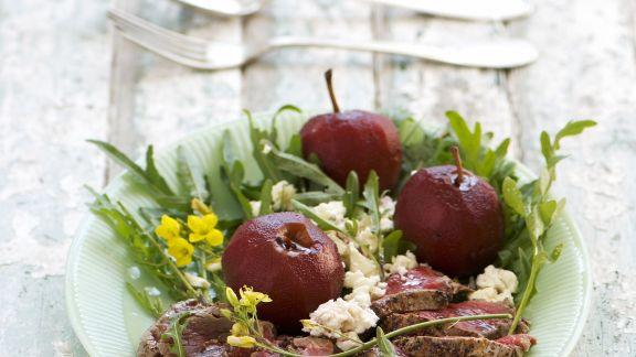 Rezept: Rinderfilet mit Rotwein-Äpfeln
