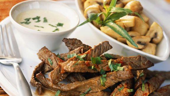 Rezept: Rinderfiletgeschnetzeltes mit Pilzen
