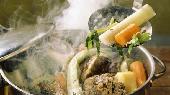 Rezept: Rindfleisch-Gemüse-Topf auf französische Art (Pot au Feu)