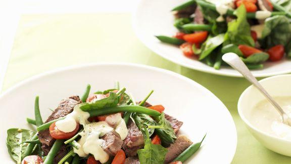 Rezept: Rindfleisch-Tomaten-Salat mit grünen Bohnen