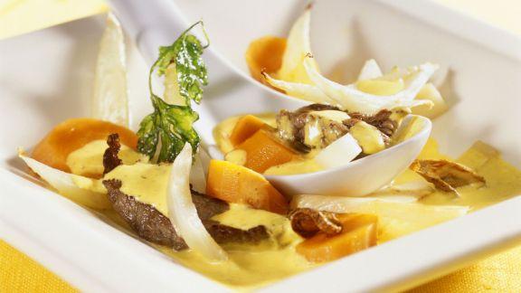 Rezept: Rindfleischcurry mit Fenchel und Karotten