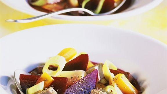 Rezept: Rindfleischeintopf mit Gemüse