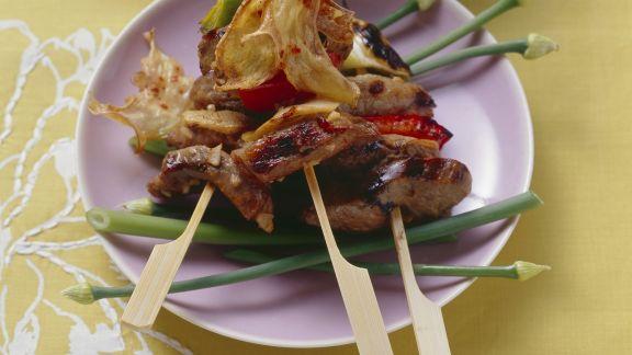 Rezept: Rindfleischspieße vom Grill