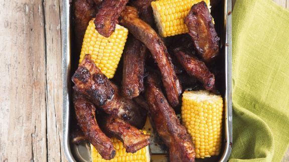Rezept: Rippchen vom Grill mit Maiskolben