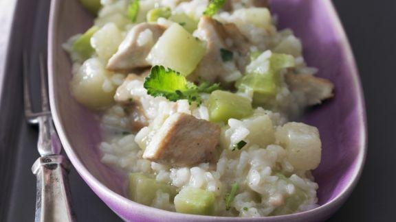 Rezept: Risotto mit Kohlrabi und Hähnchen