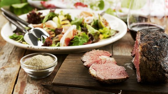 Rezept: Roastbeef mit gemischtem Salat